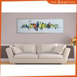 Modern Design Colorful Birds Wholesale Oil Painting Art on Canvas for Home Decoration