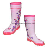 Natural Colourful Hand Paint Rubber Female Women Rain Boots