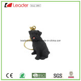 New Lovely Black Bulldog Figurine 3D Keychain