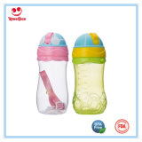Double Color Leak Proof Straw Water Bottle with Rope 12oz