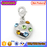Wholesale Crystal Rhinestone Jewelry Heart Shape Charm
