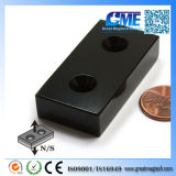 """N42 Epoxy Magnet F2X1X1/2""""with 2#8 Countersunk Hole"""