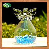Angel Shape Clear Glass Flower Vase for Table Decoration (EB-B-4585)