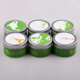 Round Fragrance Oil Candle Tin Packaging Box