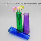 Hot Sell Decorative Colorful Glass Flower Vase