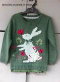 Children Sweater Girls Intarsia Rabbit Kids Sweater