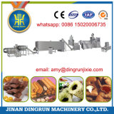 puffed snack food with chocolate filling production extruder