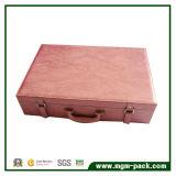 Crocodile Leather Wooden Wine Box with Handle