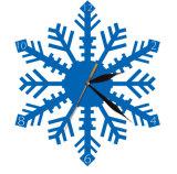 Leaf Shape Hall Colock Clear Acrylic Wall Clock