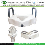 Raised Toilet Seat with Lock and Arms