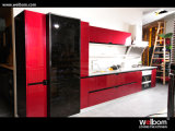 2015 [ Welbom ] DuPont Lacquer Red Color Wooden Kitchen