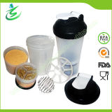 600ml 100% BPA Free Plastic Shaker Bottle with Storages
