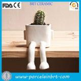 Unique China White Sitting Bonsai Plant Pots Wholesale