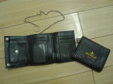 Men′s Genuine Leather Wallet with Embossed Printed Logo (HBWA-2)