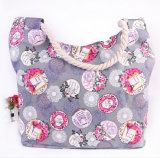 Printed Canvas Shoulder Bag Fashion Large Capacity Canvas Mummy Bag