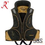 Waterproof Flotation Fishing Tackle Safety Vest (QF-1914 Golden)