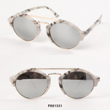 New Fashion Round Women Sunglasses with Double Bars