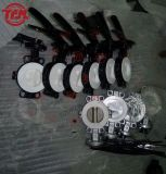 Wcb Lined PTFE Seat Butterfly Valve Manual Operator