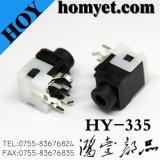 3.5mm DIP AV Jack/Phone Jack with Black & White Casing (Hy-335)