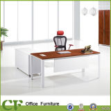 Classic Design Aluminum Frame Manager Desk with Side Cabinet