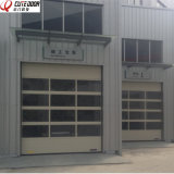 High Quality Industrial Aluminum Frame Glazed Panel Perspective Sliding Door