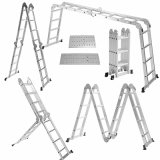 Aluminum Telescopic Folding Step Ladder with CE Approved (MTS-LMP204)