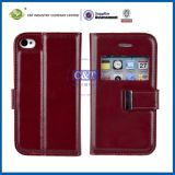 Hot Selling Wallet Leather Case for iPhone 4S