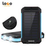 Waterproof 12000mAh Dual USB External Polymer Battery Charger Outdoor Lamp Light Power Bank