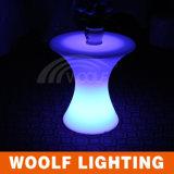 LED Glowing Plastic Round Wedding Bar Table Modern