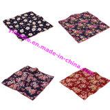 Decorative Dress Flower Design Thread Hemming Cotton Fabric Lady′s Hankerchief