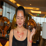 Fashion Resin Multilayers Beads Necklace with Earrings and Bracelet Jewelry Sets