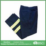 Reflective Hi Vis Navy Blue Men′s Pants Industrial Work Uniform