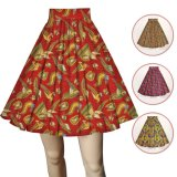 African Print Women Maxi Skirts Ankara Cotton Fabric