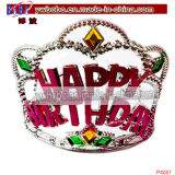 Birthday Hair Decoration Plastic Crown Tiara Hair Jewelry (P4057)