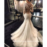 Long Sleeves Bridal Gowns Mermaid Lace Sheer Wedding Dresses Bz2014