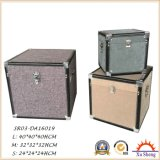 Multi-Color Wooden Decorative Fabric Linen Cloth Cover Storage Trunk S