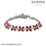 74720 Latest Red Stone Leaf Flower Jewelry Bracelet in Free Shipping