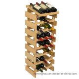 Floor Wood Storage Bottle Display Wine Rack