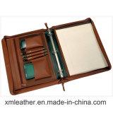 Genuine Leather Portfolio Folder Binder with Notepad