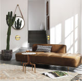 Hot Sale Royal Modern Leather Lounge with Iron Legs (CB-753)
