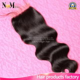 100% Unprocessed Wholesale Virgin Brazilian Body Wave Hair Closure 4*4