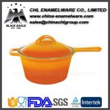 Manufacturer Non Stick Portable Iron Cast Enamel Saucepan