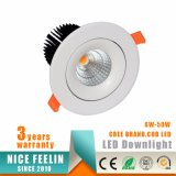 20W CREE COB LED Ceiling Downlight with Ce Approval