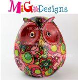 OEM Ceramic Kids′ Gift Flower Design Owl Cash Box