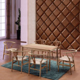 Modern Ash Wood Restaurant Dining Table and Chair (SP-CT721)