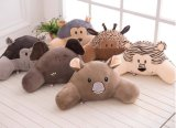Soft Animal Head Plush Cushion