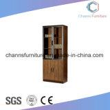 Modern Aluminum Alloy Frame Two Glass Door Office Filing Cabinet