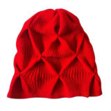 Lady′s Fashion Red Knitted Hat (JRK154)