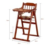 Wooden Baby High Chair with Foldable Design