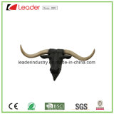 Polyresin Bull Head Decorative Statue for Home and Wall Decoration